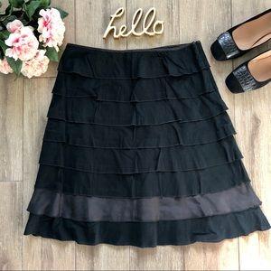 Anthropologie Fei Layered Ruffle Skirt